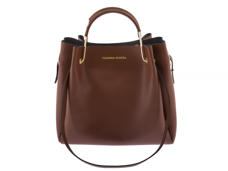 Tote Bag with Metallic Handles by Elsanna Portea